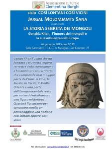 Locandina Jargal Moloments Gengis Khan 26.1.15