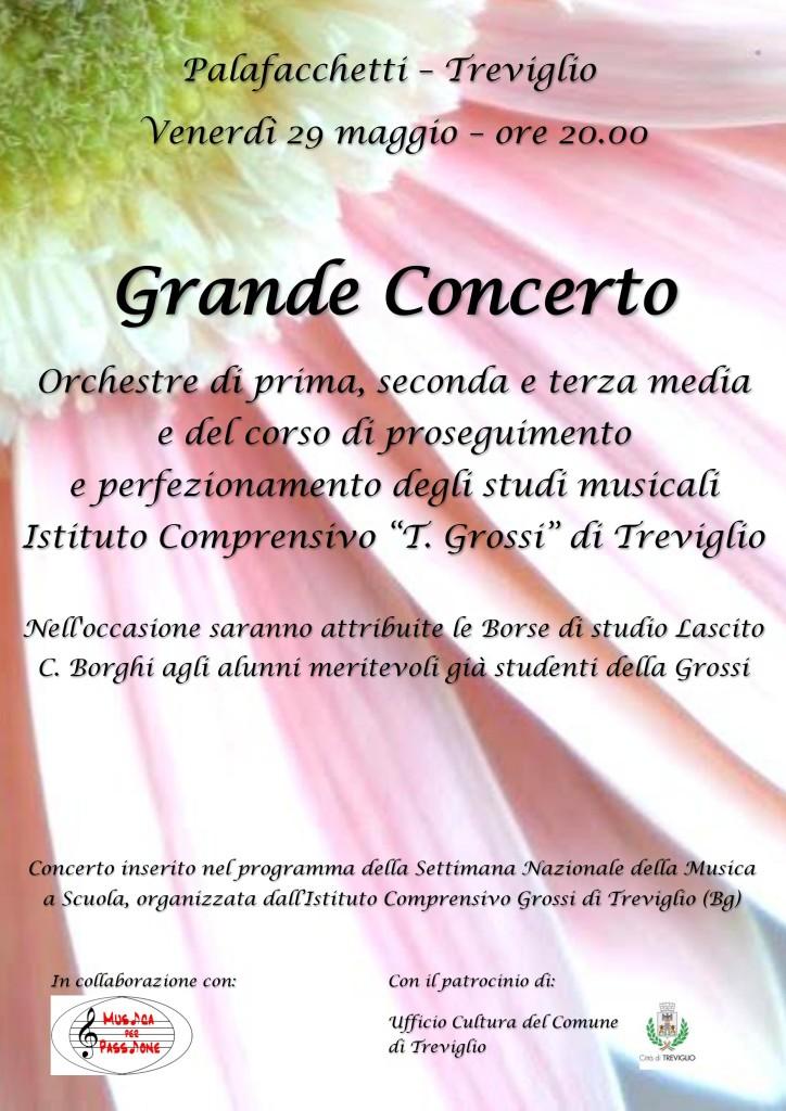 Grande concerto di fine anno della scuola T. Grossi