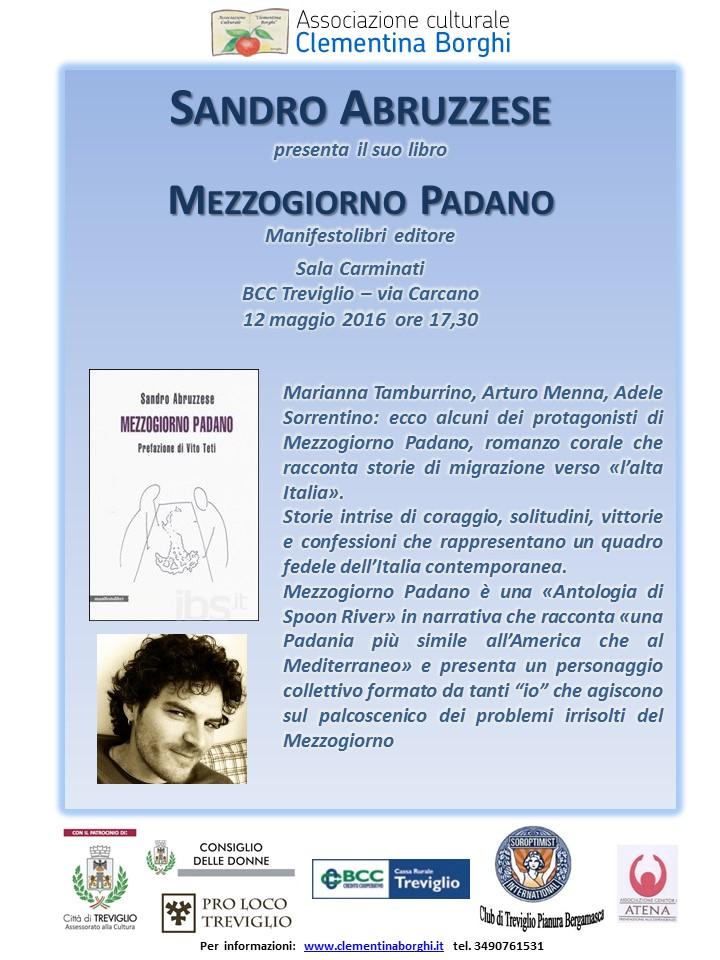 L'associazione Clementina Borghi e i giovani autori: Sandro Abruzzese