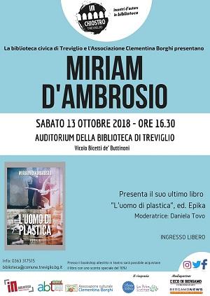 Miriam D'Ambrosio presenta il suo nuovo libro