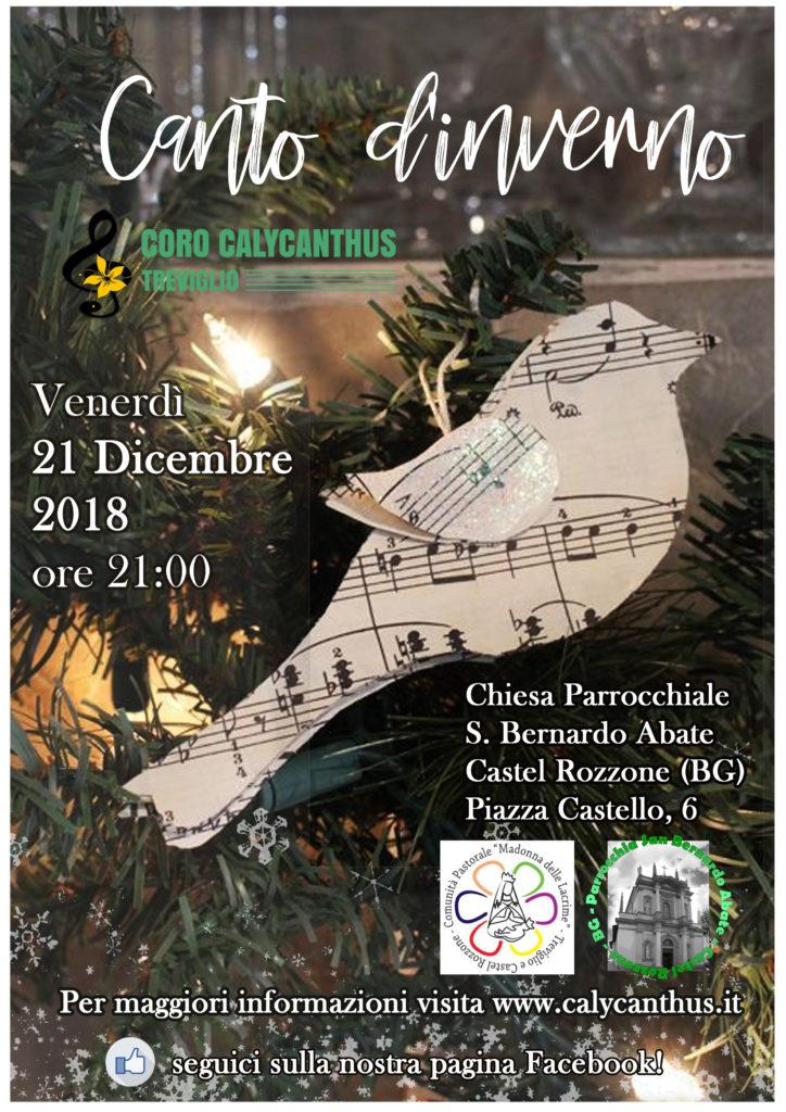Clementina Borghi presenta il concerto del coro Calycanthus