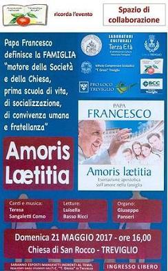 """L'associazione Clementina Borghi ricorda l'evento """"Amoris Laetitia"""" dei Laboratori culturali terza età"""