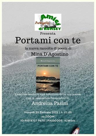 """Mina D'Agostino recita le poesie di """"Portami con te"""" su Zoom"""