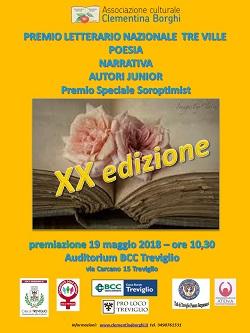 Premio letterario nazionale Tre Ville - XX edizione - Comunicato ufficiale