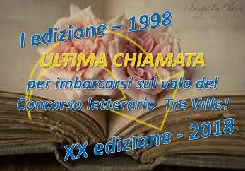 ULTIMA CHIAMATA PER IL VOLO XX TRE VILLE!